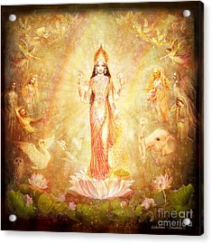 Lakshmi With Angels And Muses Acrylic Print