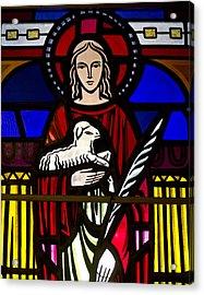 Lamb Of God  Acrylic Print by Dee  Savage