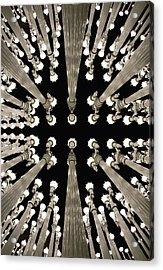 Lampposts Acrylic Print by Robert Jensen
