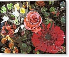 Acrylic Print featuring the digital art Lancaster Flowers by Joseph J Stevens