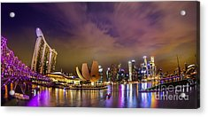 Landscaoe Of Singapore Business District  Acrylic Print