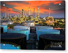 Landscape Of Oil Refinery Industry  Acrylic Print