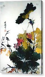 Chinese Flower Brush Painting Acrylic Print