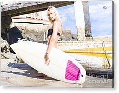 Landscape Surfing Portrait Acrylic Print