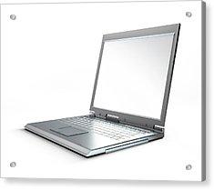 Laptop Computer, Artwork Acrylic Print by Leonello Calvetti