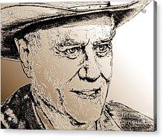 Larry Hagman In 2011 Acrylic Print by J McCombie