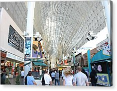 Las Vegas - Fremont Street Experience - 12121 Acrylic Print by DC Photographer
