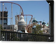 Las Vegas - New York New York Casino - 12125 Acrylic Print by DC Photographer
