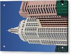 Las Vegas - New York New York Casino - 12127 Acrylic Print by DC Photographer