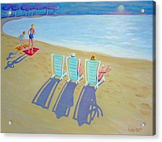 Sunset On Beach - Last Rays Acrylic Print