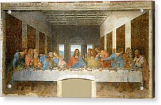 Last Supper Acrylic Print by Leonardo Da Vinci