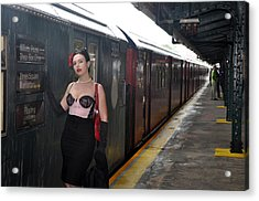 Acrylic Print featuring the photograph Last Train To Shea by Jim Poulos