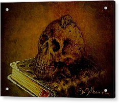 Le Livre Des Morts Acrylic Print by Guillaume Bruno