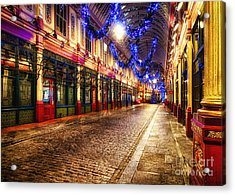 Leadenhall Christmas Lights Acrylic Print