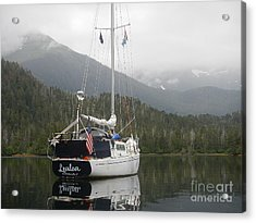 Lealea At Anchor Acrylic Print by Laura  Wong-Rose