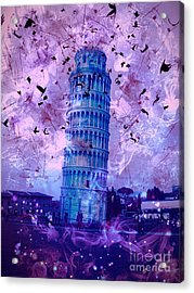 Leaning Tower Of Pisa 2 Acrylic Print