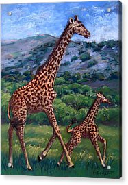 Learning To High Step Acrylic Print by Barbara Richert
