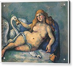 Leda And The Swan Acrylic Print by Paul Cezanne