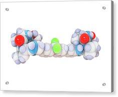 Ledipasvir Hepatitis Drug Molecule Acrylic Print by Ramon Andrade 3dciencia