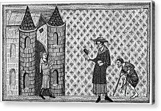 Leper House, C1220-1244 Acrylic Print by Granger