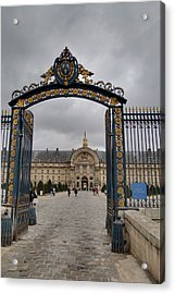 Les Invalides - Paris France - 01138 Acrylic Print by DC Photographer