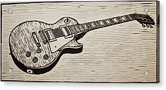 Les Paul Acrylic Print by William Cauthern