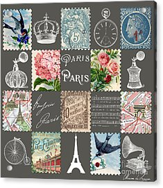 Les Timbres 2 Acrylic Print by Marion De Lauzun