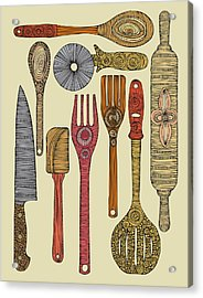 Lets Cook Acrylic Print by Valentina Ramos