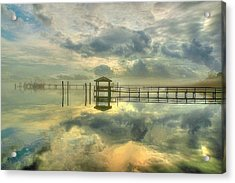 Levitating Dock Acrylic Print by Ed Roberts