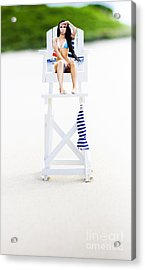 Lifeguard Acrylic Print by Jorgo Photography - Wall Art Gallery