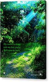 Light Unto My Path Acrylic Print by Thomas R Fletcher