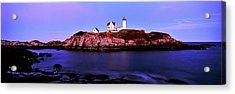 Lighthouse At A Coast, Nubble Acrylic Print