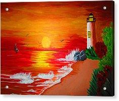 Lighthouse Acrylic Print by Haleema Nuredeen