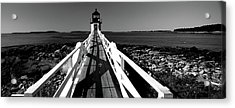 Lighthouse On The Coast, Marshall Point Acrylic Print