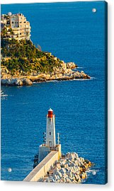 Lighthouse On The Riviera Acrylic Print