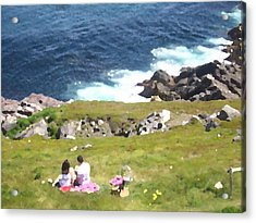 Acrylic Print featuring the photograph Lighthouse Picnic by Zinvolle Art