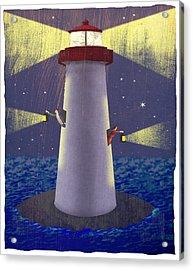 Lighthouse Acrylic Print by Steve Dininno