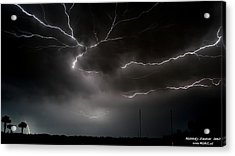 Acrylic Print featuring the photograph Lightning 2 by Richard Zentner