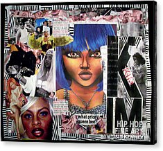Lil Kim The Making Of A Queen Bee Acrylic Print by Isis Kenney
