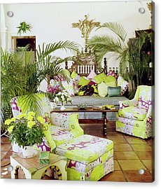 Lilly Pulitzer's Living Room Acrylic Print