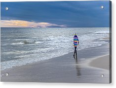 Little Girl At The Beache Acrylic Print