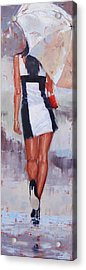 Little Red Bag Two Acrylic Print by Laura Lee Zanghetti