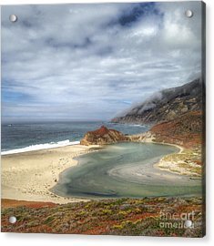 Little Sur River In Big Sur Acrylic Print