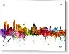 Liverpool England Skyline Acrylic Print
