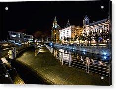 Liverpool Waterfront Acrylic Print by Wayne Molyneux