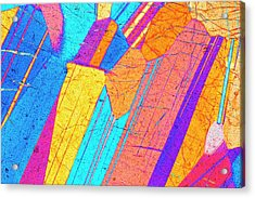 Lm Of A Thin Section Of Gabbro Rock Acrylic Print by Alfred Pasieka/science Photo Library
