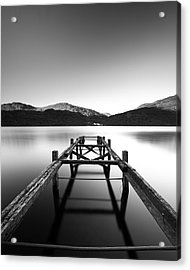 Loch Lomond Jetty Acrylic Print by Grant Glendinning