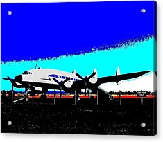 Lockheed Constellation Acrylic Print by Will Borden