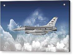 Lockheed Martin F-16c Fighting Falcon Acrylic Print by Arthur Eggers
