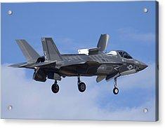Lockheed-martin F-35b Lightning 2 Buno 168720 Luke Air Force Base December 10 2013 Acrylic Print by Brian Lockett